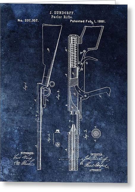 Saloon Gun Patent Greeting Card
