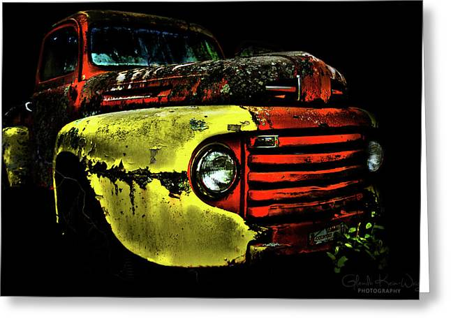 Greeting Card featuring the photograph Salsa Chevy by Glenda Wright
