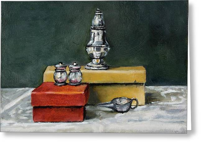 Salt And Pepper Greeting Card by Jolante Hesse