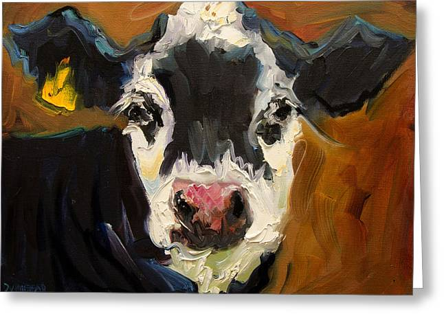 Salt And Pepper Cow Greeting Card