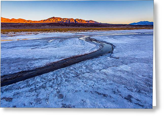 Salt Creek Death Valley Greeting Card