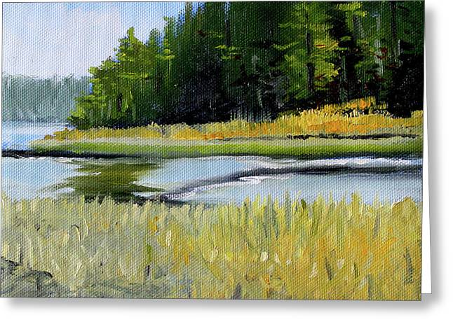 Greeting Card featuring the painting Salt Creek by Nancy Merkle