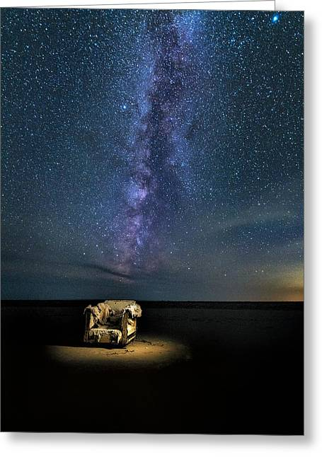 Salt Flats Milky Way Chair Greeting Card