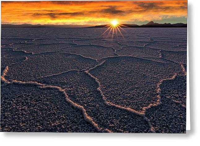 Salt Flats Sunset Greeting Card