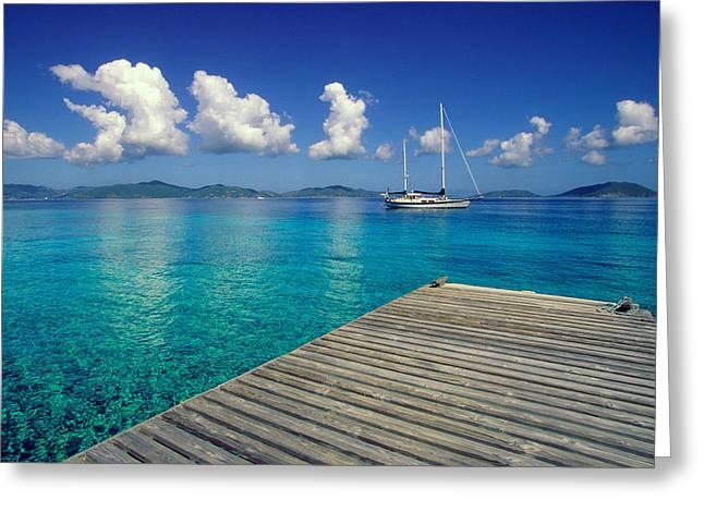 Salt Island Ancorage Greeting Card