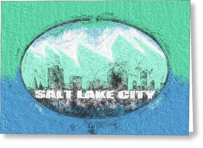 Salt Lake City Flag Greeting Card by JC Findley