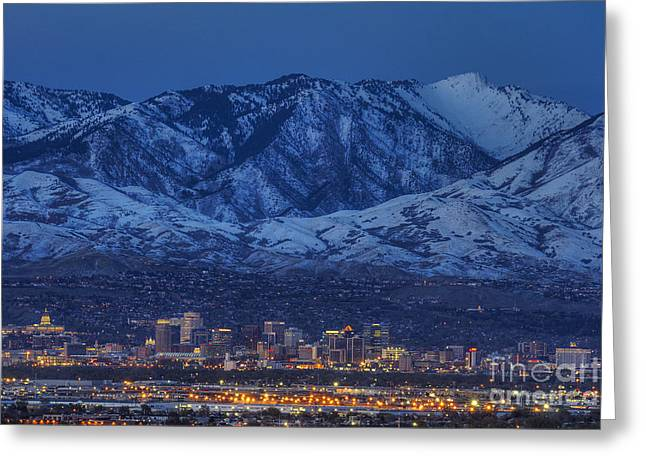 Salt Lake City Greeting Card by Spencer Baugh