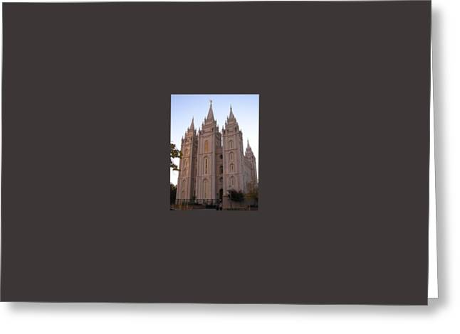Salt Lake City Temple Greeting Card by Frederick Holiday