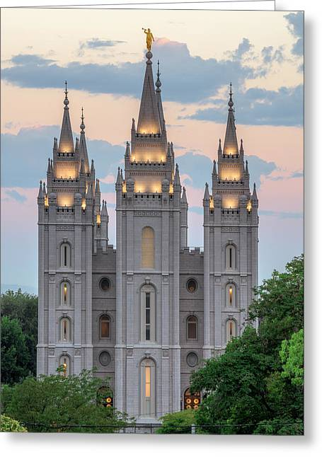 Salt Lake City Temple Morning Greeting Card
