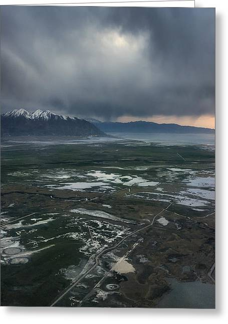 Greeting Card featuring the photograph Salt Lake Drama by Ryan Manuel