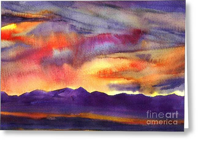 Salt Lake Rise Greeting Card