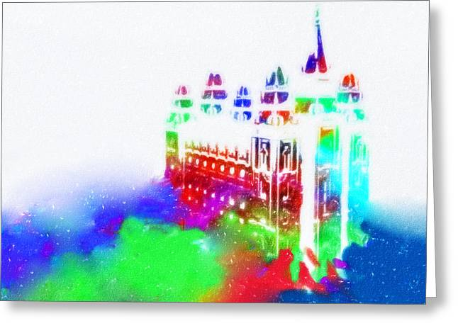 Salt Lake Temple Greeting Card by David Millenheft
