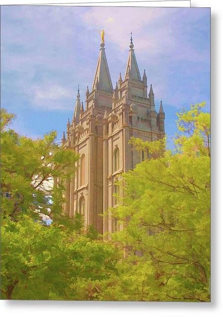 Salt Lake Temple  Greeting Card by Randall Royter