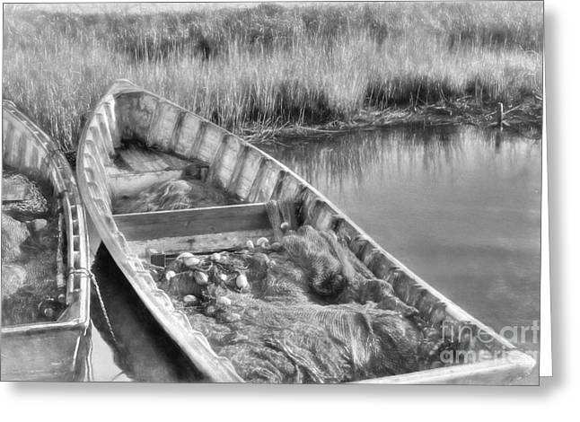 Salt Life In Black And White Greeting Card by Benanne Stiens
