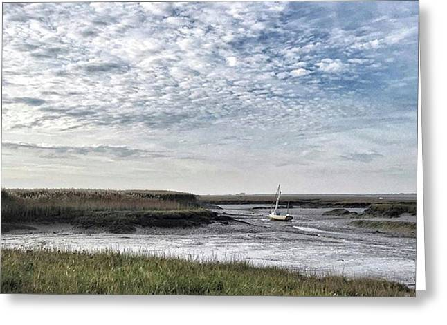 Salt Marsh And Creek, Brancaster Greeting Card by John Edwards