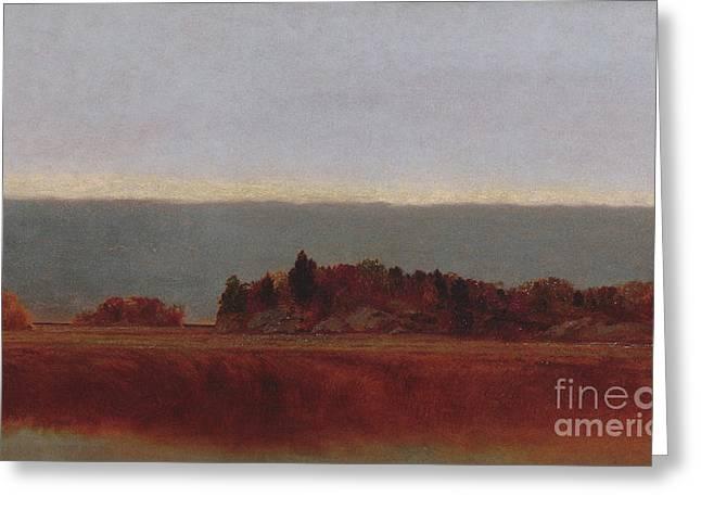 Salt Meadow In October, 1872 Greeting Card
