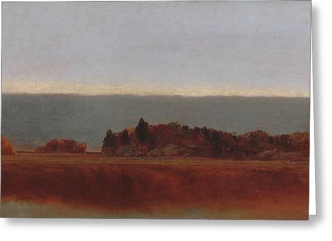 Salt Meadow In October Greeting Card by John Frederick Kensett