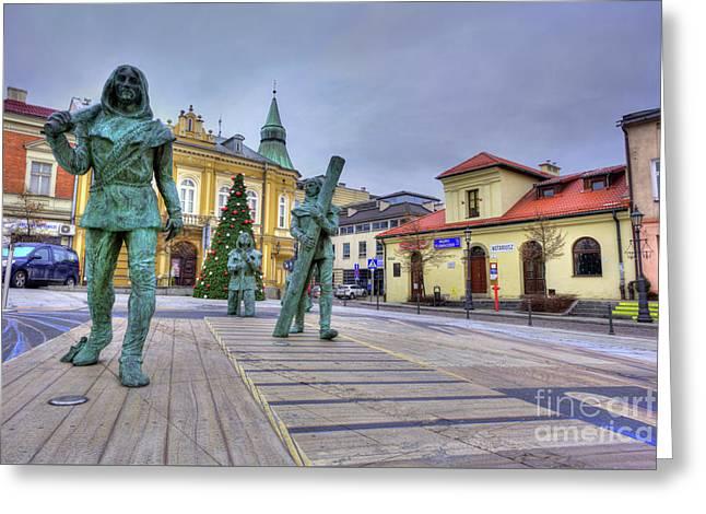 Salt Miners Of Wieliczka, Poland Greeting Card by Juli Scalzi
