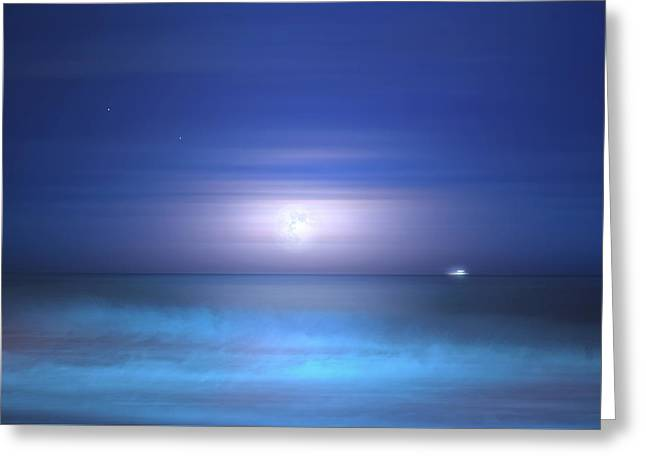 Greeting Card featuring the photograph Salt Moon by Mark Andrew Thomas