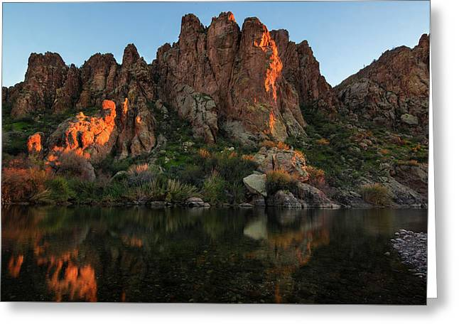 Greeting Card featuring the photograph Salt River Cliff Colors by Dave Dilli