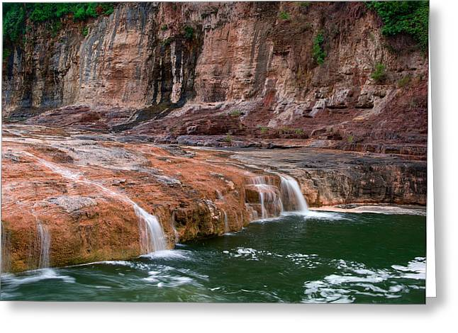 Salt River Green Waters Greeting Card by Dave Dilli