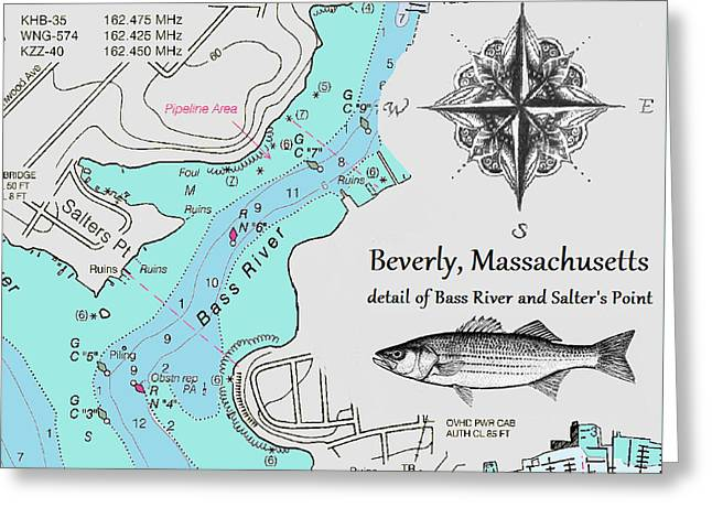 Salter's Point Map Greeting Card