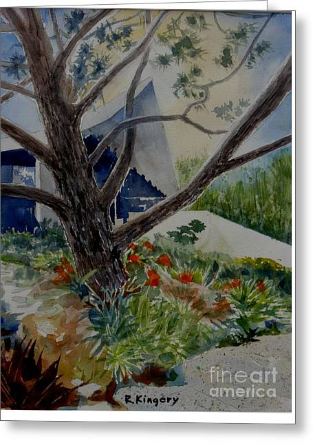 Saltman House And Garden I Greeting Card by Ralph Kingery