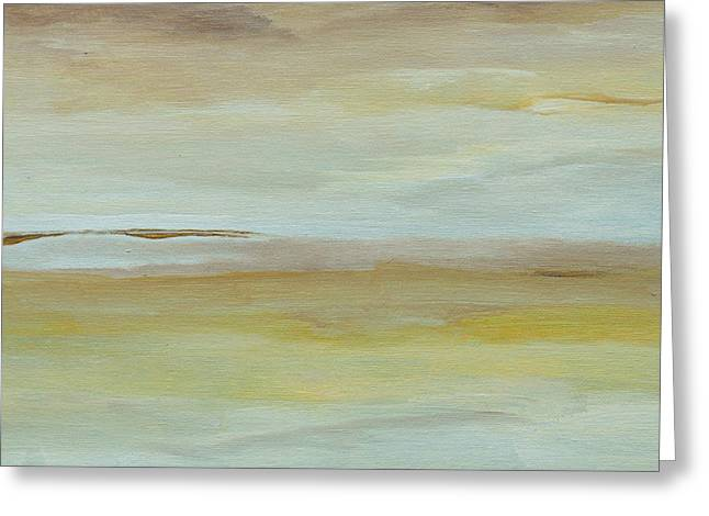 Greeting Card featuring the painting Saltmarsh  by Conor Murphy