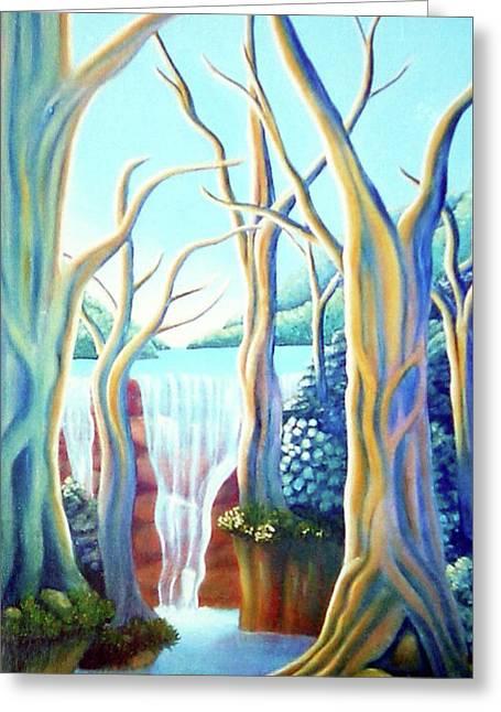 Saltwater Falls 2 Greeting Card by Barbara Stirrup