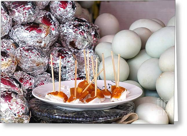 Greeting Card featuring the photograph Salty Duck Eggs by Yali Shi