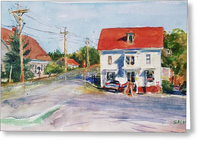 Salty Market, North Truro Greeting Card by Peter Salwen