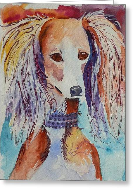 Saluki Sparkle Greeting Card