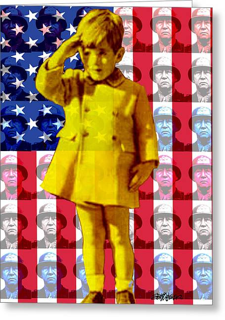 Salute Greeting Card