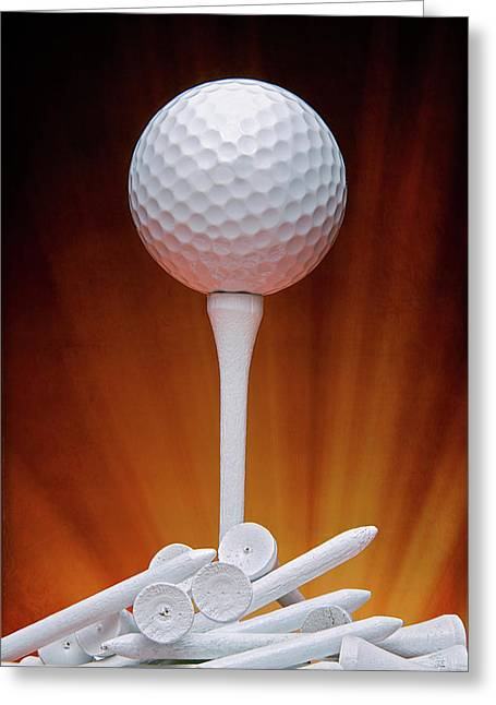 Salute To Golf Greeting Card