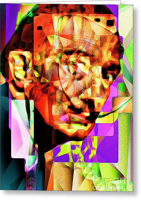 Salvador Dali In Abstract Cubism 20170401 Greeting Card