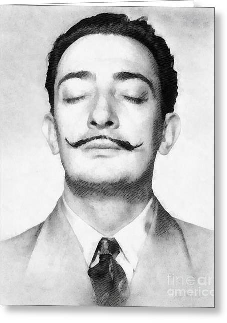 Salvador Dali, Infamous Artist Greeting Card