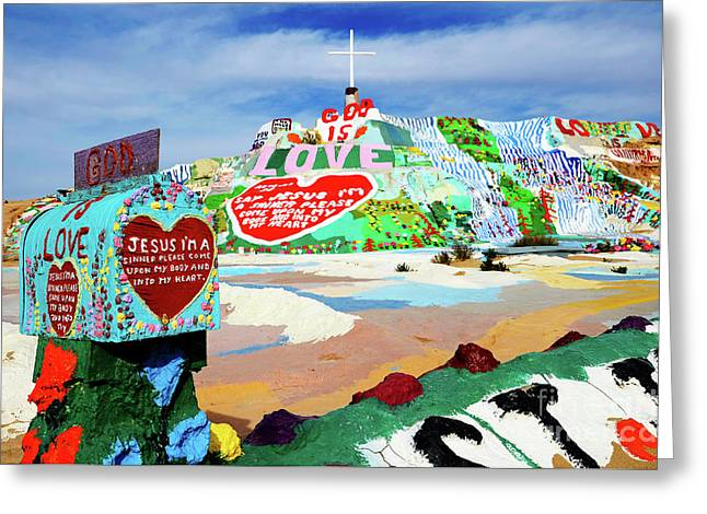 Salvation Mountain Greeting Card by Bob Christopher