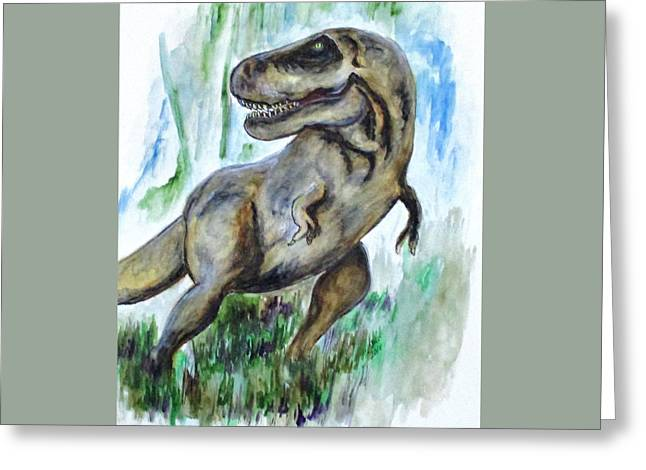 Salvatori Dinosaur Greeting Card