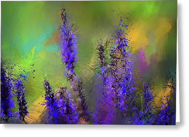 Salvia May Night Art -purple Modern Abstract Art Greeting Card