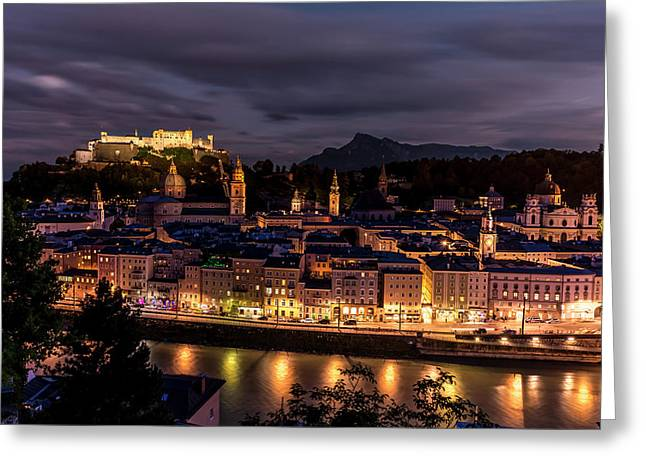 Salzburg Austria Greeting Card by David Morefield