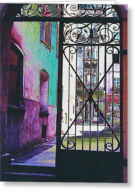 Salzburg Gate Greeting Card