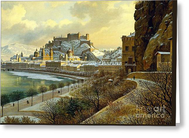 Salzburg Im Winter Greeting Card