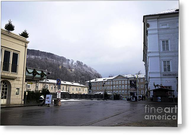 Salzburg Morning Tones Greeting Card by John Rizzuto