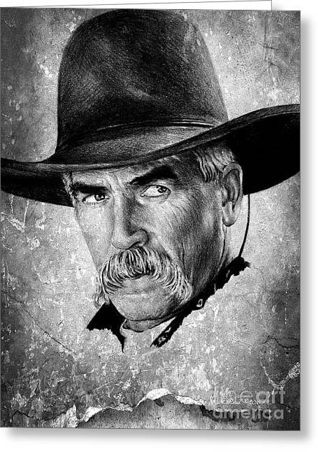 Sam Elliot Greeting Card by Andrew Read