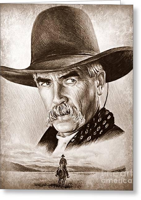 Sam Elliot The Lone Rider Greeting Card