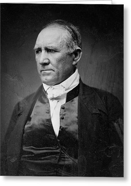 Sam Houston Of Texas  1849 Greeting Card by Daniel Hagerman