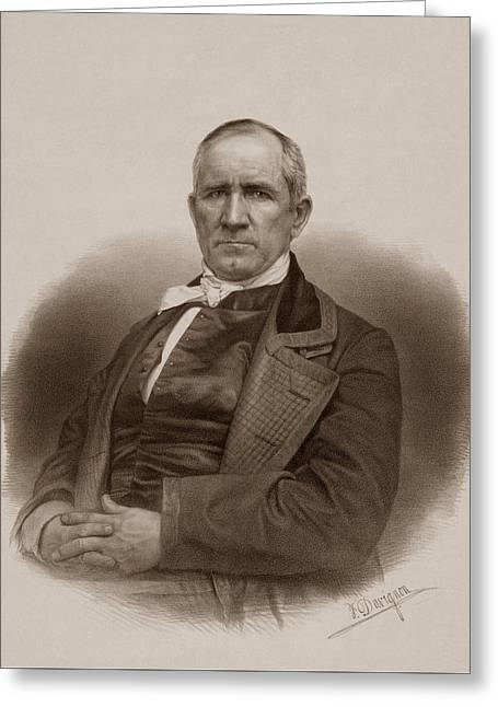 Sam Houston Portrait Greeting Card by War Is Hell Store