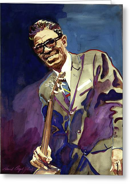 Sam Lightnin Hopkins Greeting Card by David Lloyd Glover