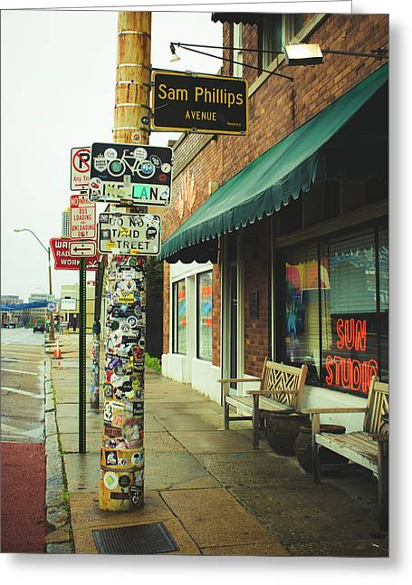 Sam Phillips Sun Studios Greeting Card