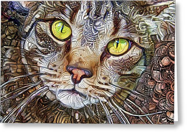 Sam The Tabby Cat Greeting Card